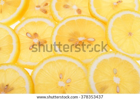 detail of lemon slices image