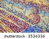 Detail of outdoor mosaic with butterfly - stock photo