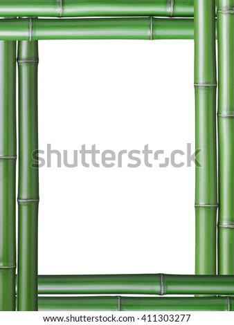 Bamboo Sticks On White Background Stock Photo 74179063 ...