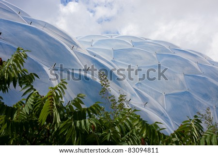 Detail of the biomes at the Eden Project in Cornwall
