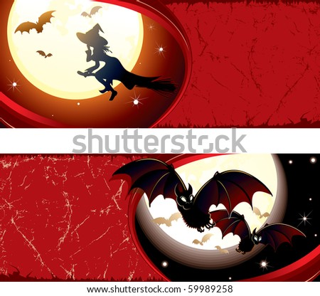 Detailed grunge Halloween banners#1 (version vector id=59987794)
