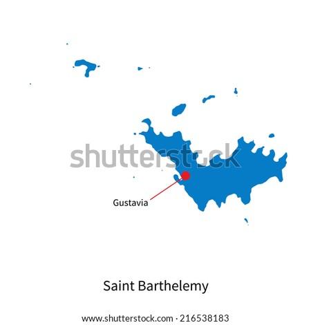 Saint Barthelemy Map Geometric Texture Background Stock Vector - Saint barthelemy map