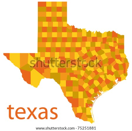 Vector Map Texas State Usa Stock Vector Shutterstock - Detailed map of texas