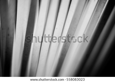 Details of spaghetti made from durum wheat flour in black and white