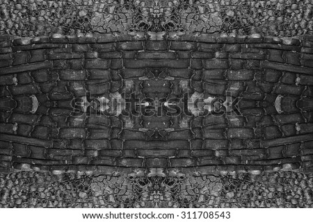 Details on the surface of charcoal, seamless pattern black background