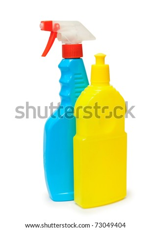 Detergent on a white background, isolated, close-up.