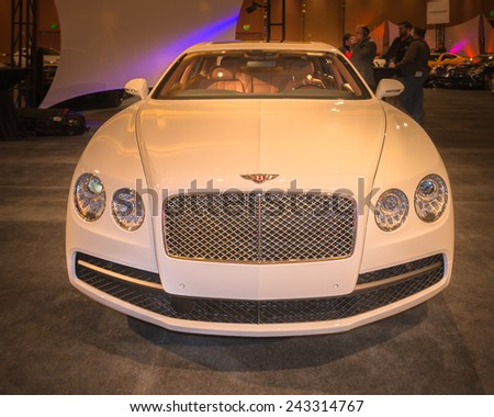 DETROIT, MI/USA - JANUARY 11, 2015: Bentley Flying Spur at The Gallery, an event sponsored by the North American International Auto Show (NAIAS) and the MGM Grand Detroit.