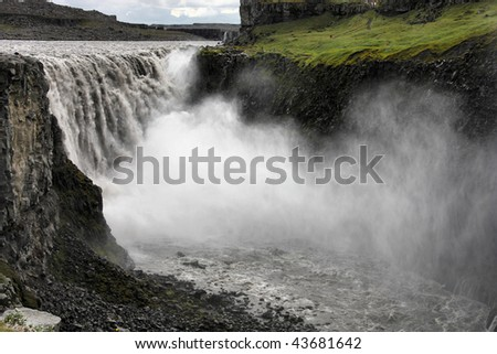 Dettifoss Largest Waterfall Europe Terms Volume Stock Photo ... | title | waterfall terms