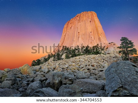 Devil's Tower National Monument in Wyoming, U.S.A.