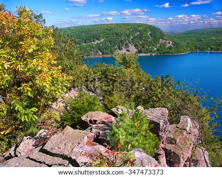 Devils Lake State Park is a popular tourist attraction in Wisconsin