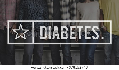 Diabetes Medical Disease Symptoms Blood Concept