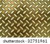 Diamond gold toned metal background texture illuminated by sunlight - stock photo
