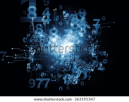 Digital Data series. Backdrop composed of numbers and design elements and suitable for use in the projects on science, education and modern technology