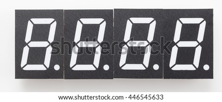 digital display electronic clock layout