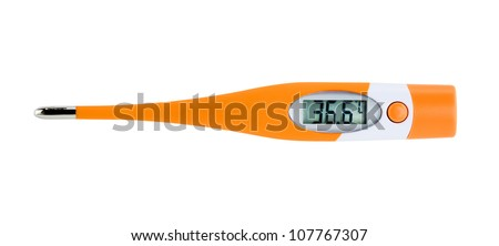 Digital Thermometer isolated  on white background