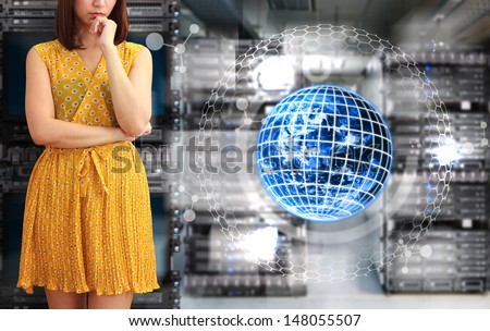 Digital world and programmer : Elements of this image furnished by NASA