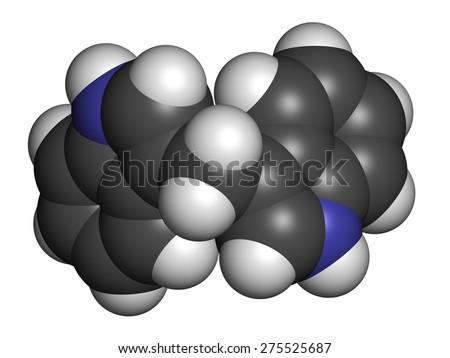 Nanoparticle Fullerene C60 Spacefilling Model Stock