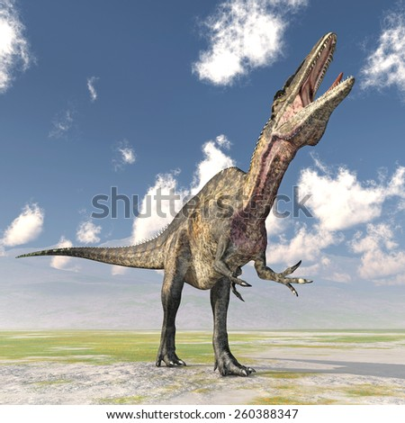 Dinosaur Acrocanthosaurus Computer generated 3D illustration