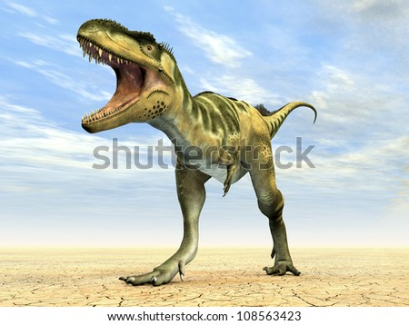 Dinosaur Bistahieversor Computer generated 3D illustration