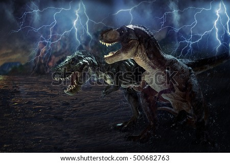 dinosaur on effect  Stome  background