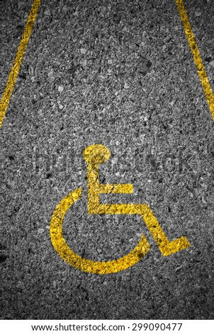 disabled icon sign on road