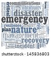 Disaster recovery word cloud for business and finance concept - stock photo