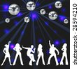 disco party background - stock photo