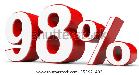 Discount 98 percent off. 3D illustration.