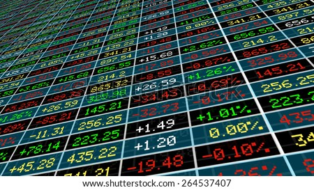 Display of Stock market.