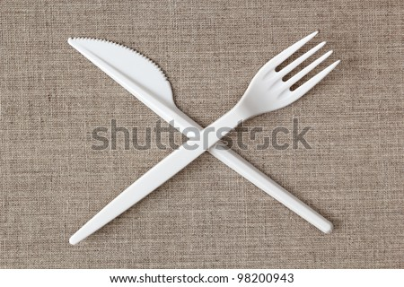 Disposable Plastic Fork and Knife