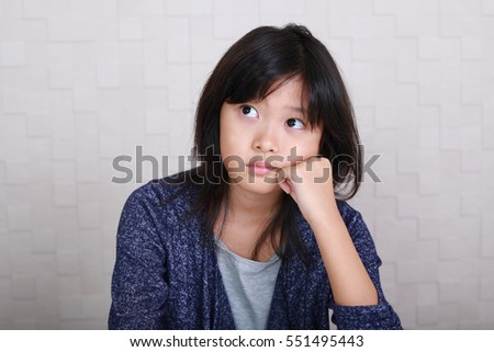 Dissatisfied Asian girl