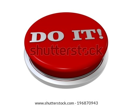 Do it push button on white background