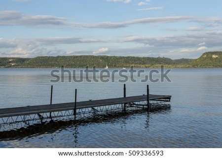Dock On The Mississippi River