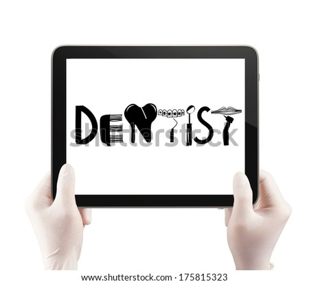 Doctor Hand Drawing Design Word Dentist Stock Photo 175819760 ...