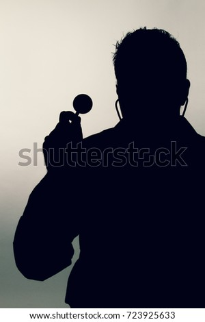 sports fan silhouette. sports fan silhouette. doctor silhouette