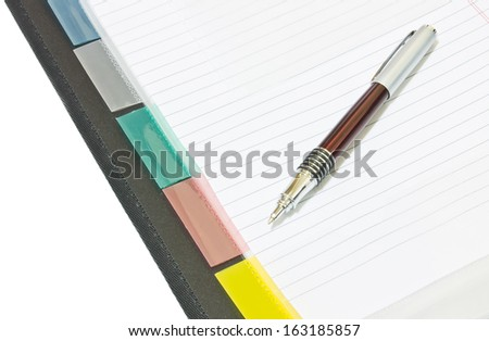 Document file and pen