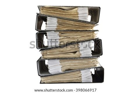 Documents Files stacked on isolate background