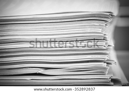 Documents on a table
