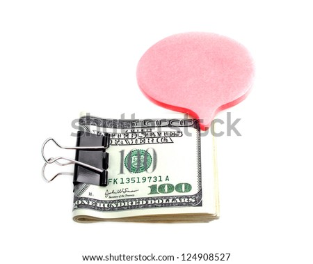 Dollar clamp on a white background