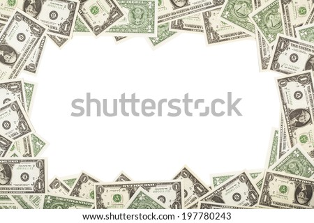 Dollars as background
