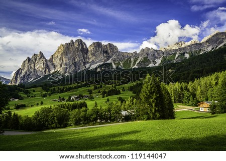 Dolomite mountains near Cortina D'ampezzo, Italy