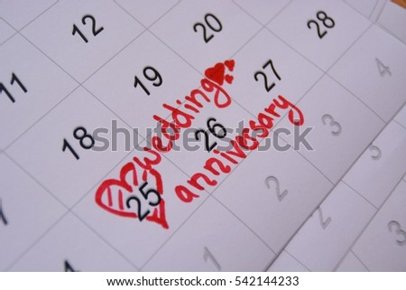Don't forget the wedding anniversary