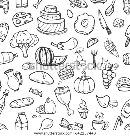 Kitchen Tools Drawings collection cute drawings food kitchen tools stock vector 147679850