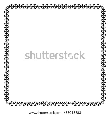 Blank Coupon Voucher Border Pair Scissors Stock Illustration