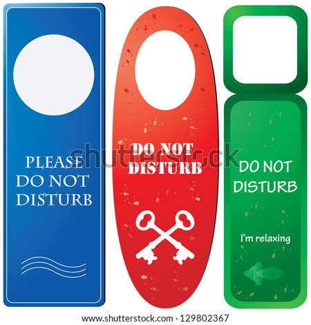 Door hangers with ''Do not disturb''
