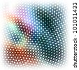 Dots abstract background. Raster illustration. - stock photo