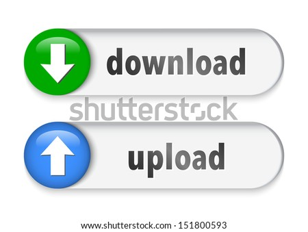 Download and upload elements with arrow sign