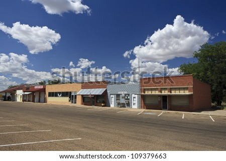 Downtown Roaring Springs, Texas, USA