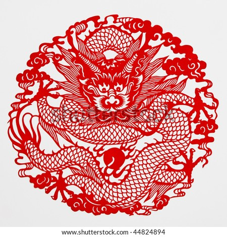 Tigerthis picture chinese paper cutting papercutting stock for Chinese paper cutting templates dragon