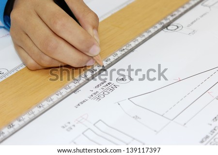 draw single line and ruler